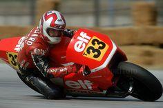 Christian Le Liard en el G.P. San Marino 1986 (Misano) con la ELF-Honda 500