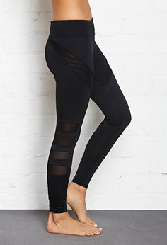 Power Mesh Paneled Leggings #F21Active