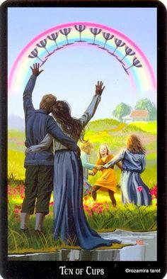 10 de coupes - Tarot sorcières par Ellen Dugan & Mark Evans