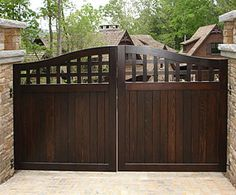 Portland Collection Wood Driveway Gate traditional fencing