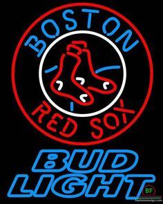 Bud Light Boston Red Sox Neon Sign MLB Teams Neon Light