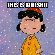 """""""We all know that Christmas is a big commercial racket."""" - Lucy Van Pelt, A Charlie Brown Christmas Charlie Brown Quotes, Charlie Brown And Snoopy, Snoopy Love, Snoopy And Woodstock, Snoopy Pictures, Funny Pictures, Snoopy Images, Weather Memes, Cold Weather Funny"""