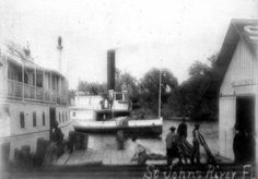 "Florida Memory - The ""Louise"" at Blue Springs dock Florida Springs, Blue Springs, Old Florida, Memories, River, Image, Rivers"