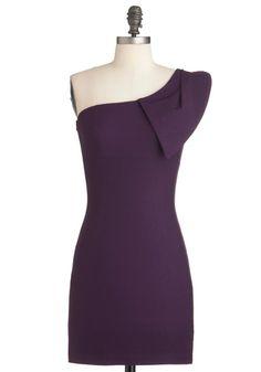 Shoulder Me How Dress in Violet, #ModCloth