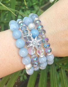 Starlit Stack Bracelets Beaded Bracelets Layering Bracelets