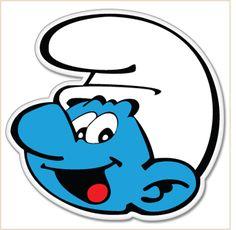 Smurf head bumper sticker