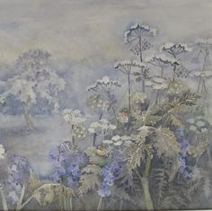 Signed watercolor watercolour of Wild Flowers by British Artist