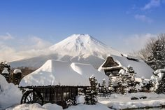Photo of 忍野八海 日本の冬 -原風景 忍野八海ー Winter in Japan in Oshino-mura, yamanashi-ken, Japan