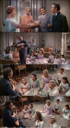 The Von Trapp family is discovered when the Captain Von Trapp sings Edelweiss. The Sound of Music 1965