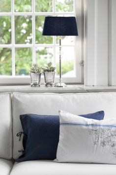 BLUE MOOD and BOLETTE cushions. Lene Bjerre, spring 2014.