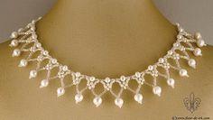Snow lace collar N1186 by Fleur-de-Irk