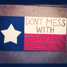 Homemade Texas flag
