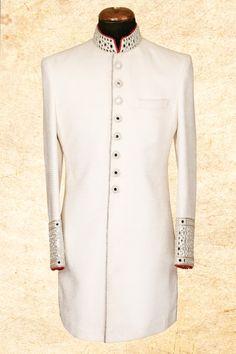 smart sherwani with Indian Men Fashion, Mens Fashion, Wedding Sherwani, Indian Man, Indian Wedding Outfits, Jodhpur, Wedding Designs, Lehenga, Kurti