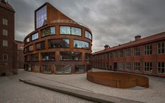 Download wallpapers Stockholm, Sweden, KTH Architecture School, modern stylish buildings, architecture, building of iron