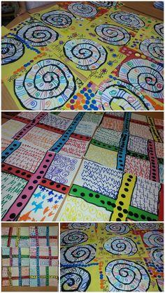 Kindergarten Art Lessons, Art Education Lessons, Art Lessons Elementary, Art Drawings For Kids, Art For Kids, Arte Elemental, Newspaper Crafts, Art Plastique, Preschool Crafts