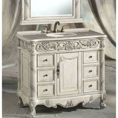 "Bathroom Vanities Overstock amazon - 36"" traditional style belleville sink vanity model"