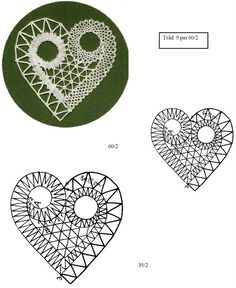 Albumiarkisto Hairpin Lace Crochet, Lace Necklace, Lace Jewelry, Filet Crochet, Bobbin Lace Patterns, Lacemaking, Lace Heart, Album, Fabric Art