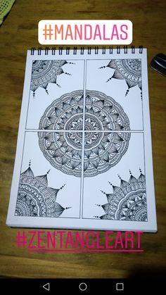 Zentagle black and.. /// Drawingnk \\\ 🐞 Easy Mandala Drawing, Mandala Sketch, Mandala Doodle, Mandala Art Lesson, Doodle Art Drawing, Zentangle Drawings, Pencil Art Drawings, Cool Art Drawings, Zentangle Patterns