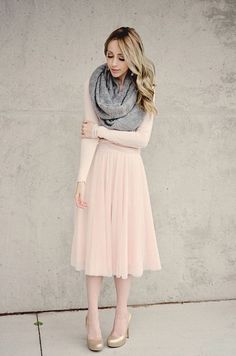I would like a pink pleated or chiffon skirt. I would wear it with a graphic tee and denim jacket. I like the juxtaposition of hard and soft