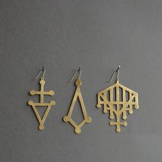 Cutout Gate Earring (Brass) via Etsy.
