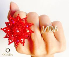 Vida ring_silver by Odara, my brand www.odara.art.br the red. no eis foram Parceria Carioca also In Rio de Janeiro