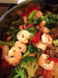Paleo Shrimp Stir-Fry I think I'm going to change this up a bit...no agave nectar and Ill probably add fresh ginger and coconut aminos or paleo fish sauce maybe garlic, but I bought shrimp on sale so I need to use it!