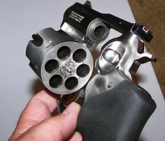 Ruger Alaskan .44 magnum.  Also check out the Ruger Alaskan .454 Casull - Bear defense.