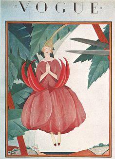 Vogue Cover by George Plank, August 1924 Vogue Vintage, Vintage Vogue Covers, Art Deco Illustration, Fashion Illustration Vintage, Magazine Art, Magazine Design, Poster Vintage, Vintage Art, Vogue Magazine Covers