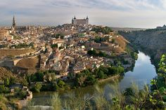 Toledo and River Tagus. Tres Aguas has been conceived as a constellation of sculptures connecting three different places in the city of Tole. Oh The Places You'll Go, Places To Visit, Toledo Spain, Spain And Portugal, Free Travel, Us Travel, Travel Guide, Travel Images, Adventure Is Out There