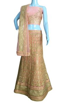 ‪#‎BuyNow‬ Light Peach Heavy Zari Diamond Work Wedding Semi-Stitch Lehenga Choli With Blouse only at Lalgulal.com. ‪#‎Price‬ :- 6,822/- inr. To ‪#‎Order‬ :- http://goo.gl/W61ESv To Order you Call or ‪#‎Whatsapp‬ us on +91-95121-50402 COD & Free Shipping Available only in India.