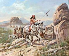 Apache wars. Painting by ???