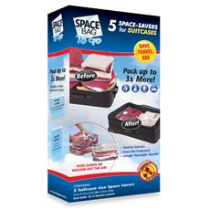 $19.99 Space Bag® To Go Travel Cube Suitcase Space Savers (Set of 5) - Bed Bath & Beyond
