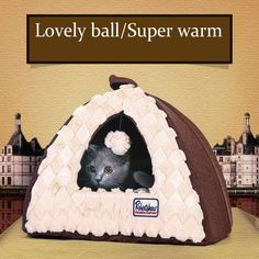 Winter warm Soft cave cat puppy  bed washable small dog cat kitten pet fleece House kennel nest dog sofa bed cat castle tent bed