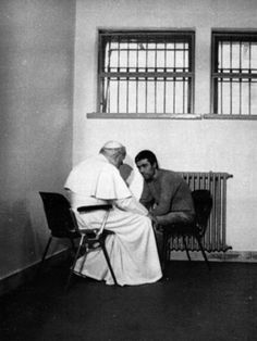 On Dec. 23, 1983, Pope John Paul II visited Mehmet Ali Agca, in a prison in Rome. The pope forgave the man who attempted to kill him in 1981.