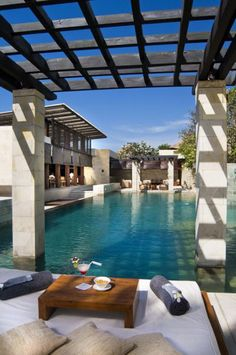 #Homes Outdoor Living Poolside at The Balé Hotel in Bali