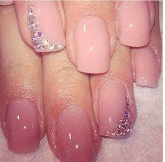 Simple but Sassy Wedding manicure