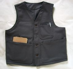 The Melton Wool version of our Writing/Hunting Vest