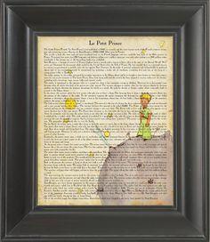 The Little Prince - book print vintage