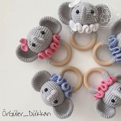 2019 all best amigurumi crochet patterns – Artofit Crochet Baby Toys, Crochet Mouse, Newborn Crochet, Crochet For Kids, Crochet Animal Patterns, Crochet Animals, Newborn Toys, Crochet Elephant, Baby Rattle