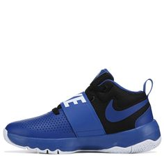 1609c865fcd4e Nike Kids  Team Hustle D8 Basketball Shoe Grade School Shoes (Game Royal  Black)