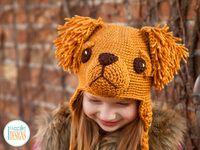 Golden Retriever or Labrador Retriever Puppy Dog Hat Crochet Pattern by IraRott