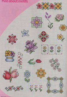 several pages of little flower motifs, plus lots more large flower designs