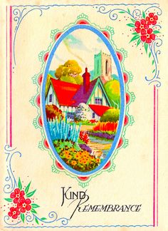 1936. Kind Remembrance card.