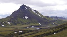 Mt. Stórasúla Iceland covered in green moss and black volcanic ash. [OC][3705x2093]   landscape Nature Photos