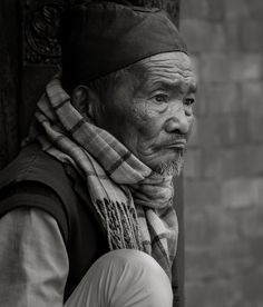 The Stare by KnikmanAV-Hans Knikman. An elderly Nepalese gentleman lost in thought.