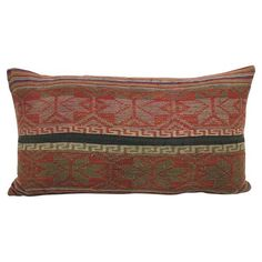 Hmong Tribal Boho Lumbar Pillow | UMA 12x20 - The Estate of Things