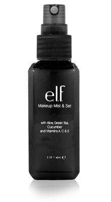 This is one of my favorites on e.l.f.: Makeup Mist & Set. Use this special link and get five dollars off.