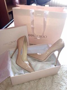 Nude Pumps from Jimmy Choo. #shoeheaven #goals