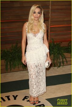 Rita Ora is blonde and fabulous while attending the 2014 Vanity Fair Oscar Party hosted by Graydon Carter held during the 2014 Oscars on Sunday night (March 2) in West Hollywood, Calif.