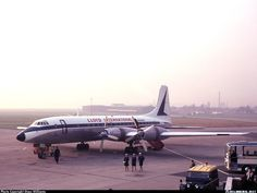 "Lloyd International Bristol 175 Britannia 317 G-APNA""Juno"" at Liverpool-Speke, November (Photo: Steve Williams) British Airline, Steve Williams, Silver Wings, Nose Art, Airports, Bristol, Liverpool, Planes, Fighter Jets"